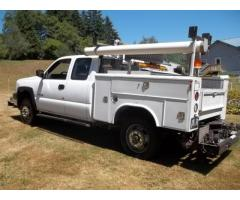 2006 Chevrolet Hy-Rail 2500HD Quad Cab Track Inspection Service Truck
