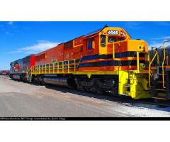Mobile locomotive painting/ Self aligning coupler replacement