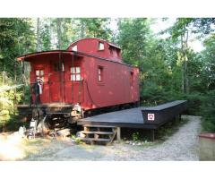 Completely Furnished Caboose with 97ft. of frontage on Lake Michigan