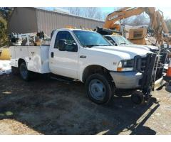 2004 FORD F-450 UTILITY CRANE TRUCK WITH RAILGEAR