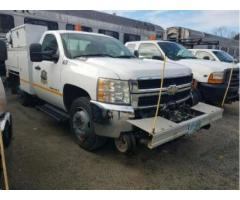 2007 CHEVROLET 3500 UTILITY TRUCK WITH HY-RAIL GEAR