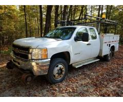 2012 CHEVROLET 3500HD 4X4 UTILITY TRUCK WITH RAILGEAR