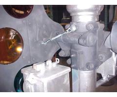 Semaphore signal bearing shaft